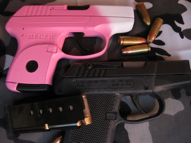Pink and White Lcp with Orginal Black Keltec