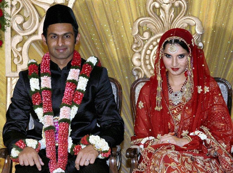 sania mirza marriage photos