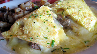 chicken liver omelete