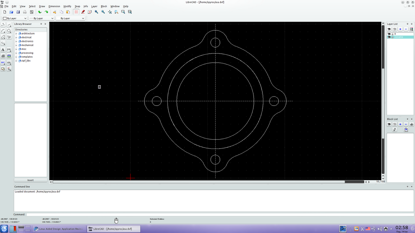 LibreCAD Review http://linuxaideddesign.blogspot.com/2011/01/application-review-librecad-part-i.html