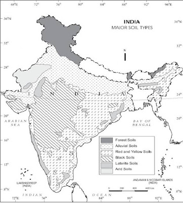 Soils of india geo jaydeep for Soil in india