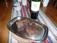 Älgkött & rödvin ..