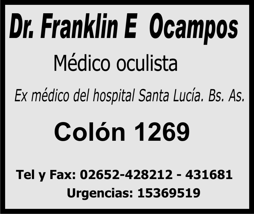 Médico oculista