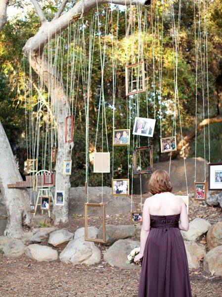 Family Backyard Wedding : Trend Alert Hanging Frames ? Celebrations at Home