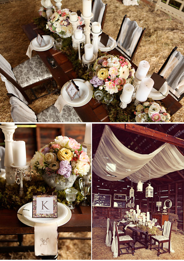 I wanted to share this beautiful tablescape because it combines two of my