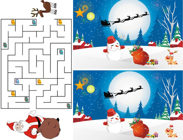 Free christmas printable activities for the kids for Free christmas crafts for kids