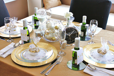 Decoração: mesa reveillon