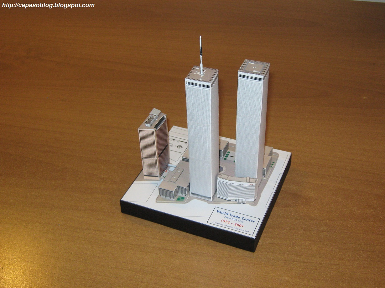 essay on trade world trade center paper model