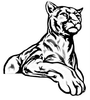 simple cougar drawing