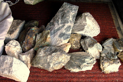 rocks in truck