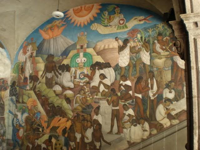 Evidencias del libro de morm n mural de quetzalcoatl for Mural quetzalcoatl