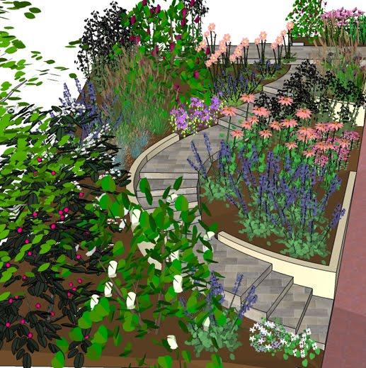 Mcque gardens using sketchup photoshop for design work for Garden design sketchup 8