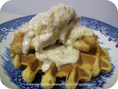 aunt florida chicken gravy serve waffles