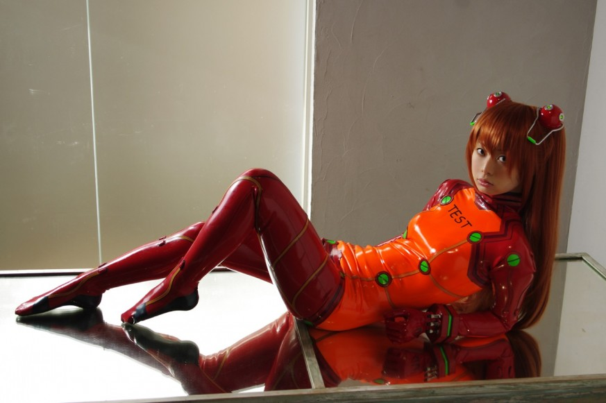 2 old 4 anime?: Asuka Langley Soryu Plugsuit Cosplay