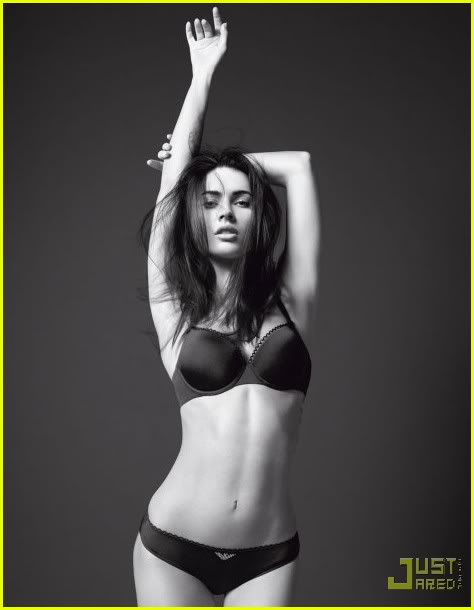 Megan Fox Sizzles in Armani Underwear Shoot2