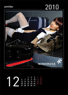 sexy windrose stewardess calendar 14