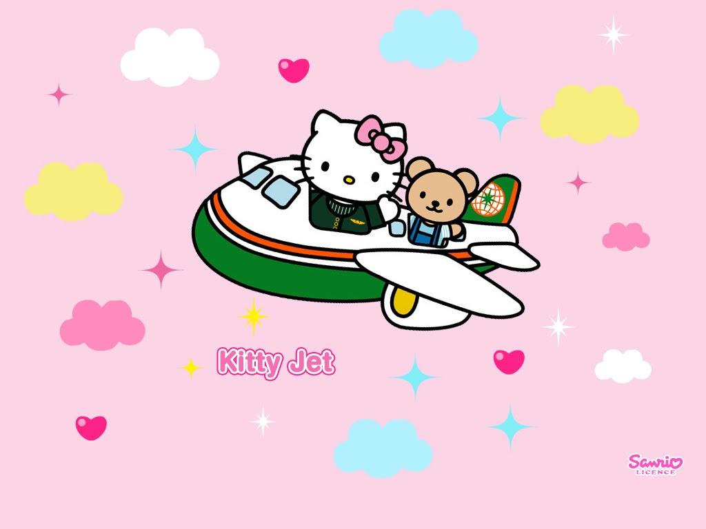 Wonderful Wallpaper Hello Kitty Punk - hk+airplane  Pic_602522.bmp
