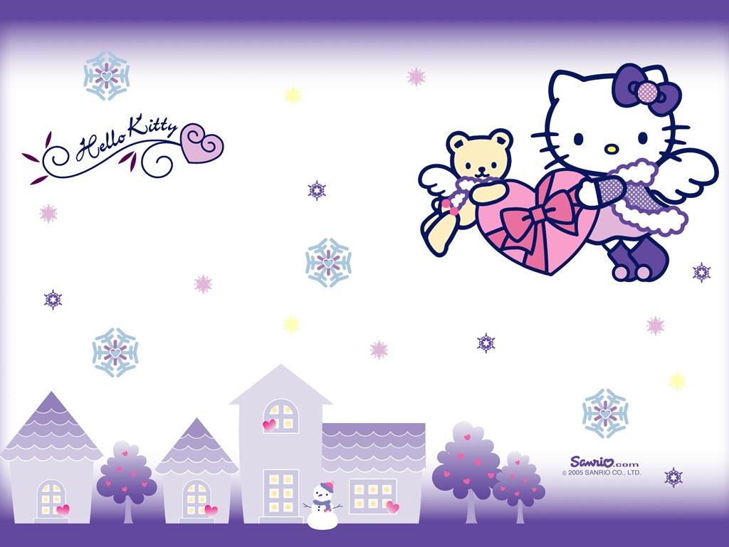 Mimmy and Hello Kitty: Wallpaper Hello Kitty Winter