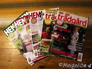 Fem utspridda tidningar Hem ljuva hem.