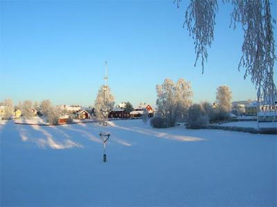 Majstång från Gropen i Leksand, vintertid.