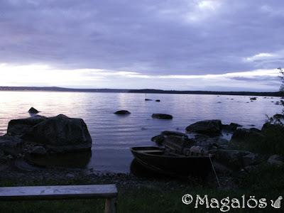 Nattvy över sjö