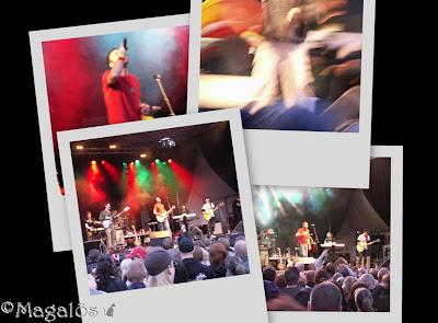 Collage från kvällens musikupplevelse.