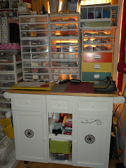 Here is where I keep Inks and embossing powdders.  I love it.