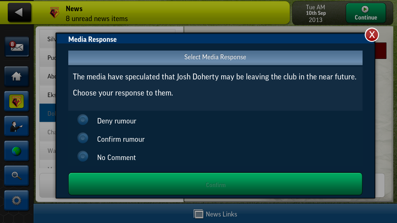 Screenshot Football Manager Handled 2014