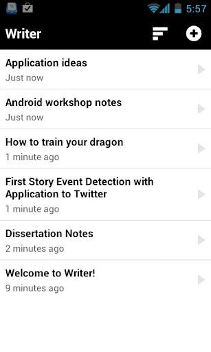 Writer app