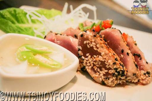 seared tuna kinilaw