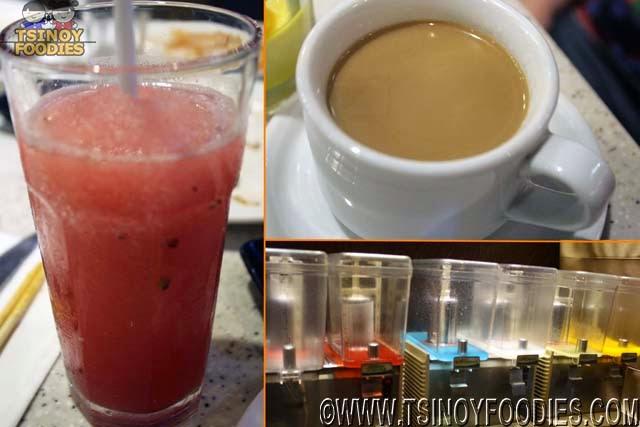 the buffet international cuisine drinks