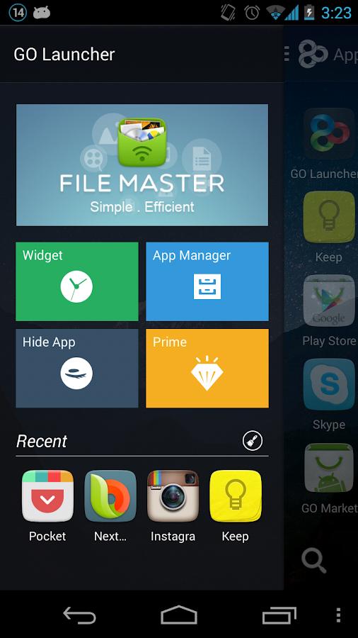 GO Launcher EX apk terbaru