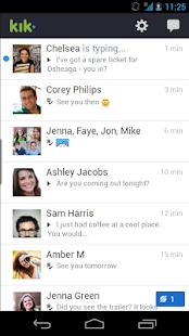 تطبيق Kik Messenger v6.5.1.48 السريع في عالم الدردشة