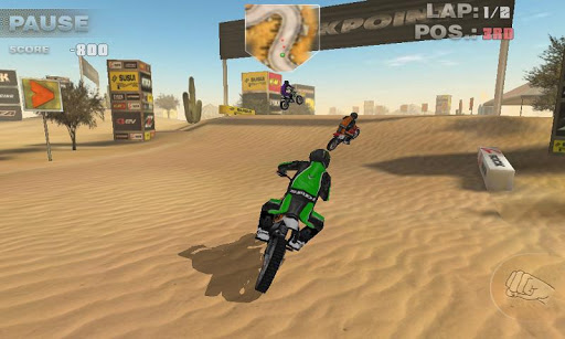 The game sports 5 beautiful 3d tracks with top graphics and 12 bikes