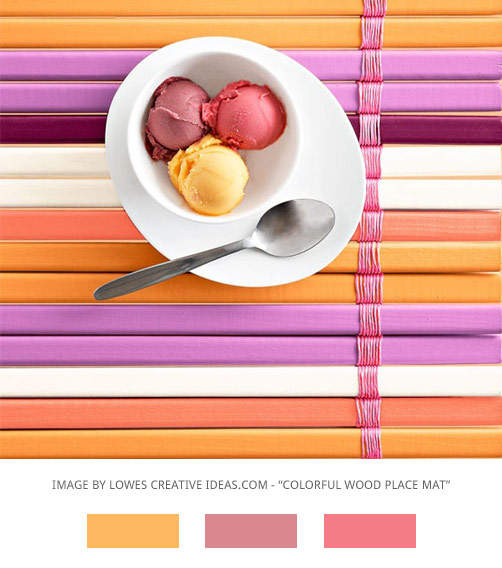 purple, pink and orange colour palette