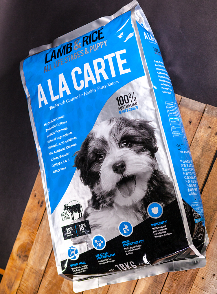 A la carte oem pet care review australian dog lover the other recipes chicken rice and lamb rice use rice instead of barley and both have a reasonable amount of quality protein forumfinder Images