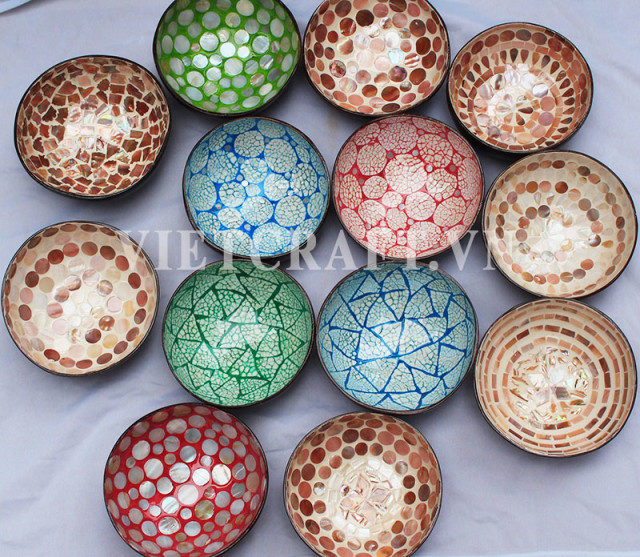 Coconut Lacquer Bowls - The best selling gift - Made in Viet Nam