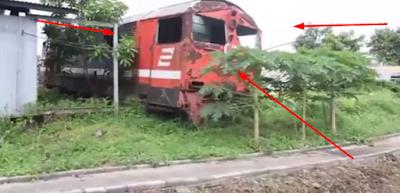 Terungkap Sudah ! Di Sinilah 2 Lokomotif Tragedi Bintaro 'Dikuburkan', Pegawai Ogah Dekati