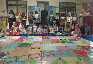 Bersinergi Untuk Budayakan Membaca, Literasi Anak Kampung Berkunjung Ke TBM Sahabat Literasi