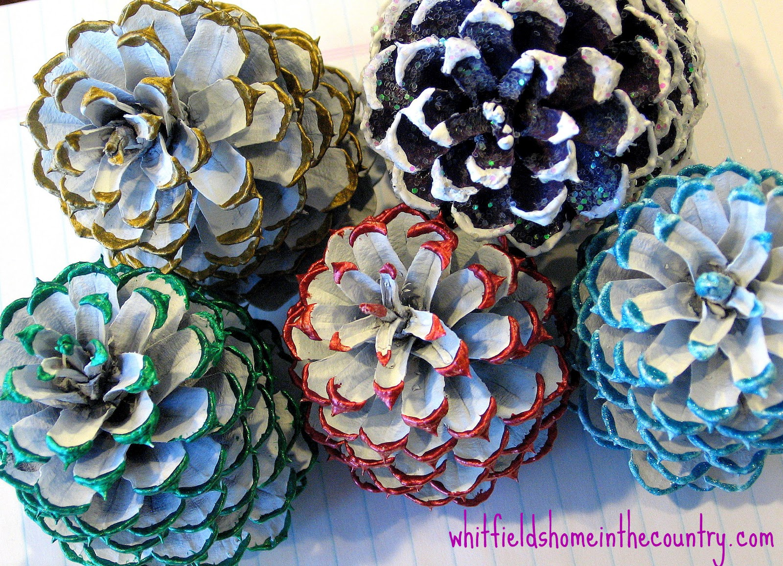 ~ Whitfield's Home ♥ In The Country ~: DIY Pine Cone Ornaments