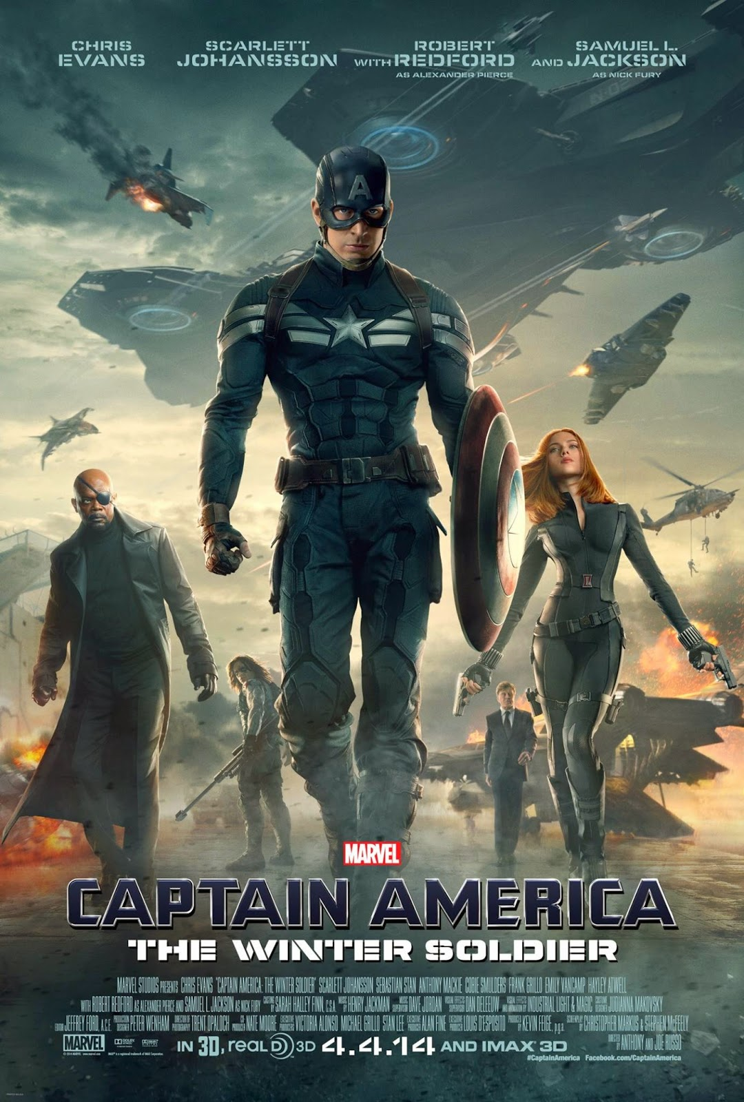 Affiche officielle US Captain America: The Winter Soldier