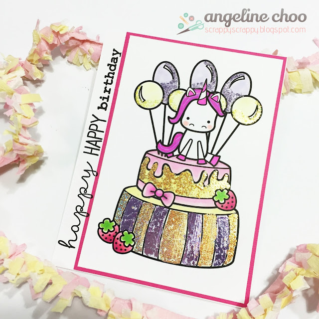 ScrappyScrappy: Sweet Stamp Shop Birthaversary #scrappyscrappy #sweetstampshop #stamp #plannerstamp #copic #coloring #card #cardmaking #caketopper #crafting
