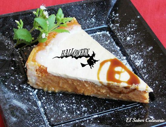 tarta de calabaza con cobertura de creme fraiche