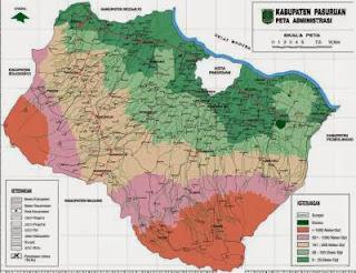 Peta Area Kabupaten Pasuruan - Jasa Sedot Tinja di Pasuruan Tarif Murah 0822-2819-9997