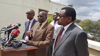 Siaya Senator James Orengo with Machakos counterpart Muthama. PHOTO | Courtesy