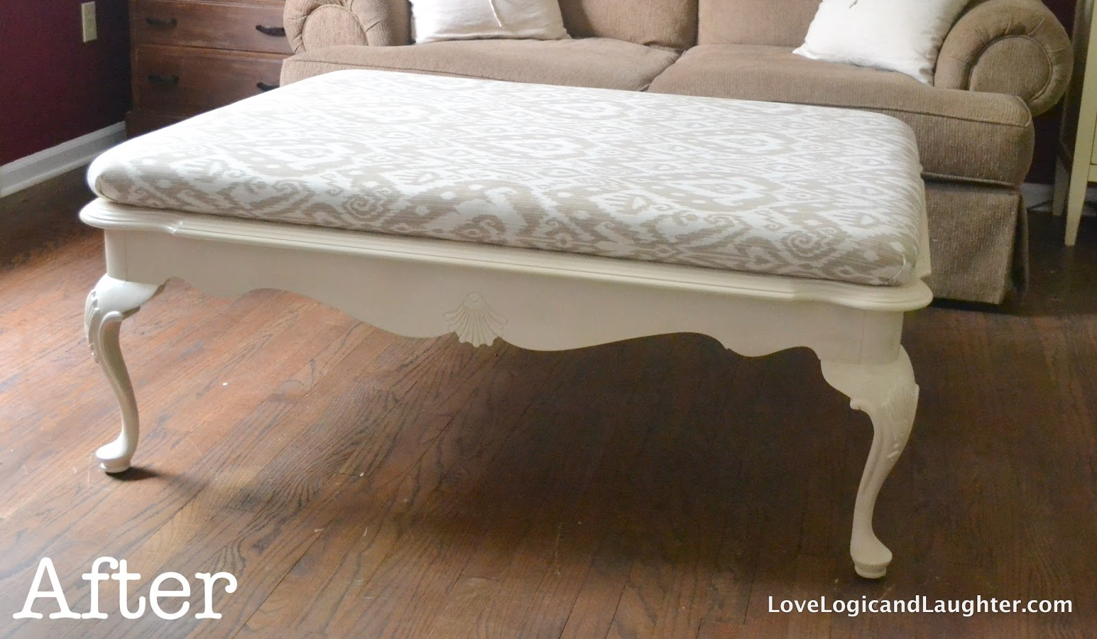 DIY Upholstered Ottoman » Logic and Laughter
