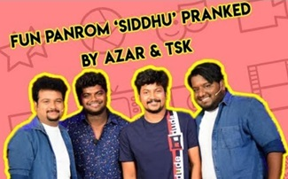 Fun Panrom Siddhu Pranked By Azar & TSK | Chutti & Vicky Show | Blacksheep
