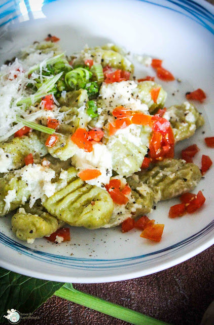 grüne Gnocchi