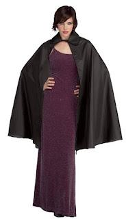 Black taffeta cape