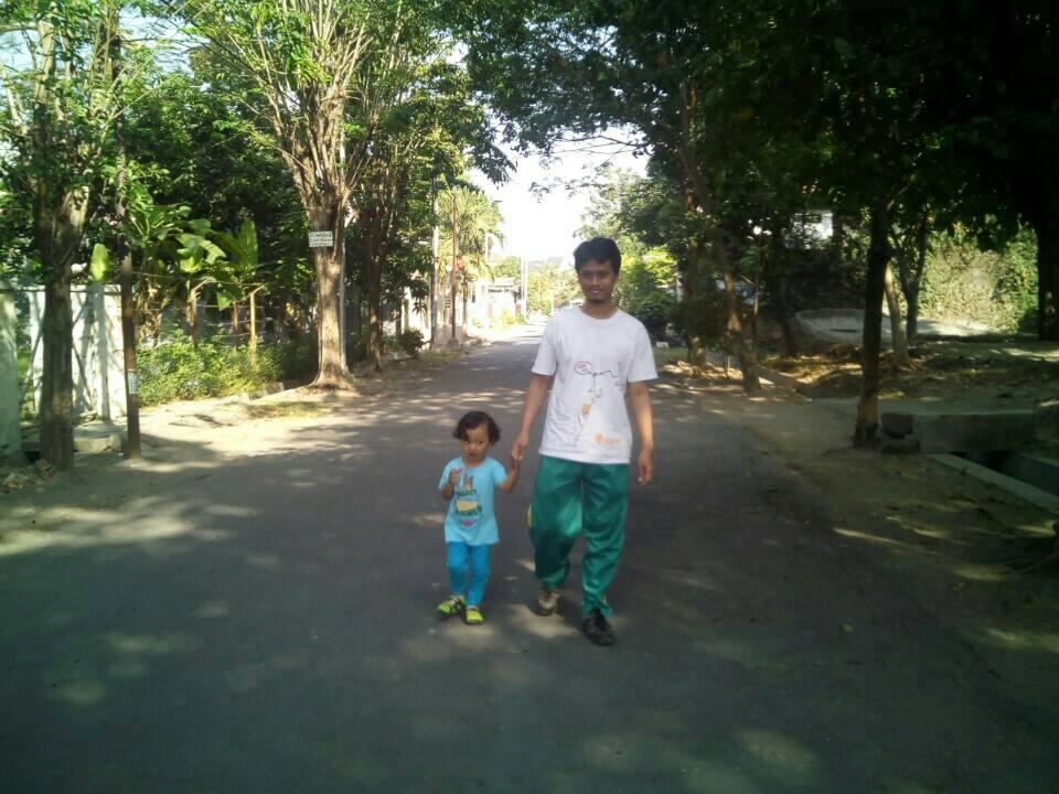 Ara umur 3 tahun saat Jalan Sehat